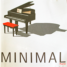 Album cover with grand piano on white background for Minimal Piano featuring compositions by Paul Williams