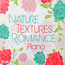 Floral design album cover for Nature Textures Romance Piano by Paul Williams
